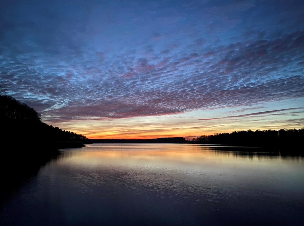 Sonnenaufgang über dem Thünensee