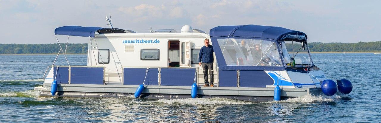 Kontakt zum führerscheinfreien Wassercamper Hausboot